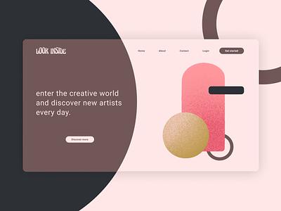 landing page · daily ui minimalist dailyui 003 web illustration design dailyuichallenge dailyui