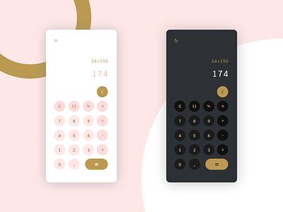 calculator · daily ui calculator dailyui 004 mobile design dailyuichallenge dailyui