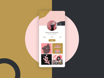user profile · daily ui user profile dailyui 006 illustration mobile design dailyuichallenge dailyui