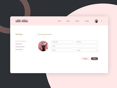 settings · daily ui daily ui 0007 settings account web design dailyuichallenge dailyui