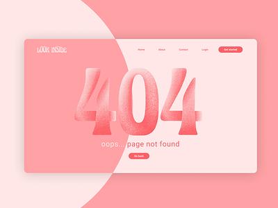 404 page · daily ui dailyui 0008 404error 404 page design web illustration dailyuichallenge dailyui