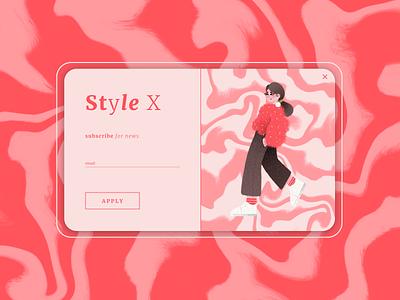 pop-up / overlay · daily ui illustration daily ui 016 web design dailyuichallenge dailyui