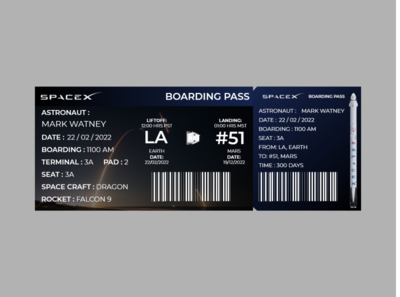 Boarding Pass for SPACEX