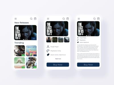 Game Store Ecommerce App UI mobile app mobile ui app design ecommerce design ecommerce app ecommerce figma app webdesign uiux ui ux profile dailyui web ux ui design dailyui 10ddc