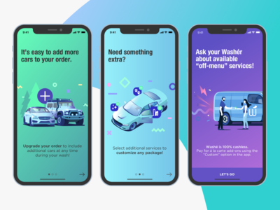 Washé new upgrade onboarding application onboarding car wash application washe app update onboarding upgrade