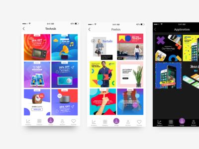 Bloom Categories edit image image editor app app ui fashion ui