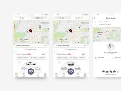gg - On demand Transportation Service order car order taxi delivery app on demand transportation service taxi app