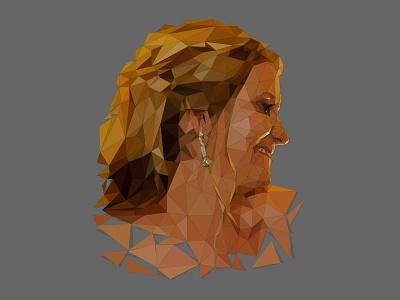 Low Poly Portrait - Profile View vector art illustrator digital art portrait beziers ai vector polygon low poly