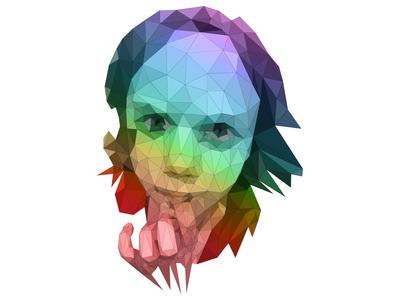Low Polygon Portrait digital art triangle polygon stylized vector art portrait vector bezier ai