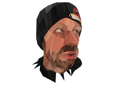 Self-Portrait low Poly portrait vector art polygon triangle bezier vector illustrator ai