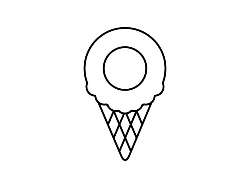 Sweet Location vector line art icon ux design mashups location based location