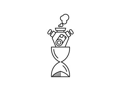 Time Machine line art ux design time machine hour glass mashups icon vector