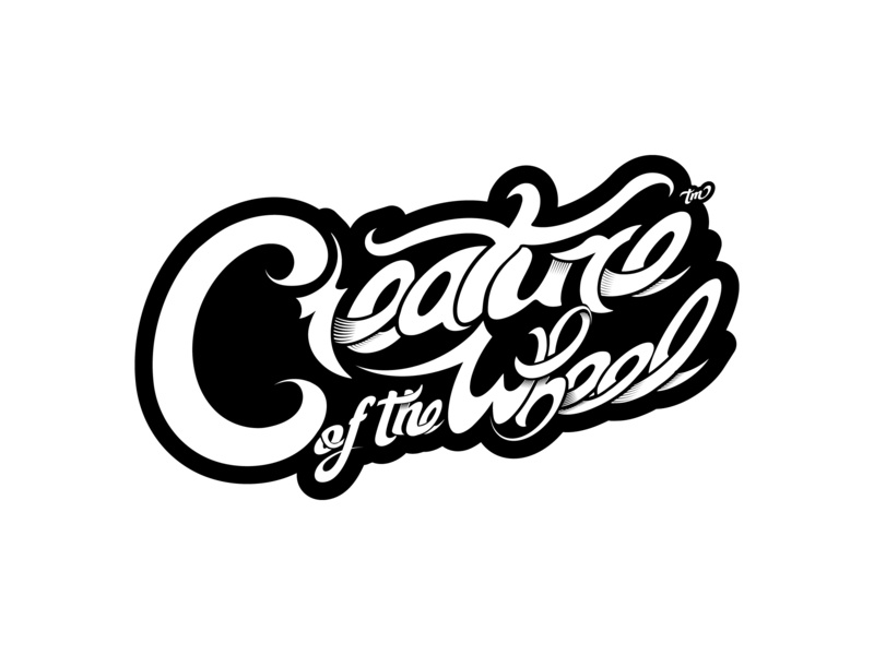 Creature of the Wheel Hand Lettering illustrator vector art vector hand lettering motorcycle bike skateboard cycling sticker branding logo typography lettering