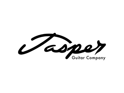 Jasper Guitar Company graphic design simple lettering line art vector music guitar branding typography script hand lettering