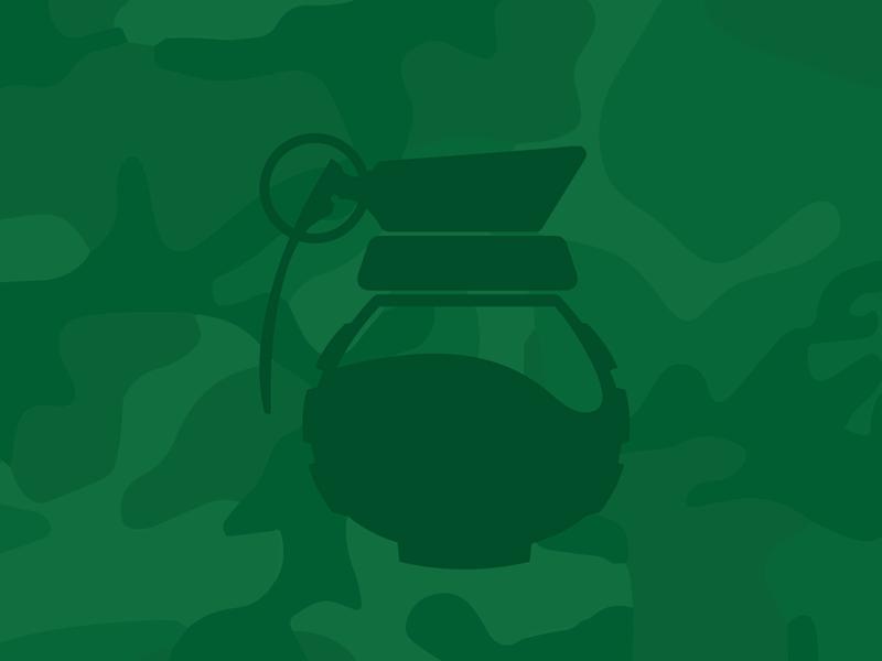 Strong Coffee logo military mashup grenade caffeine ux icon vector coffee