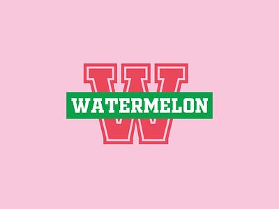 Watermelon icon branding fruity icon design sports logo typography fruit logo fruit illustration illustration monogram icons fruits