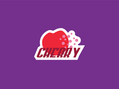 Cherry fruity typography icon monograms monogram branding logo illustration fruit illustration icons icon design fruits fruit cherry
