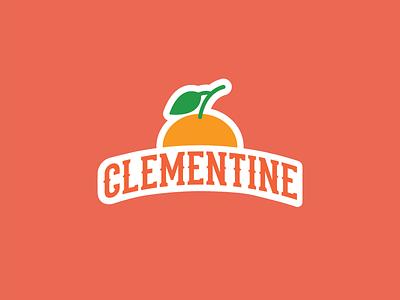 Clementine orange monogram vector branding fruit illustration fruity illustration icon design icons icon clementine