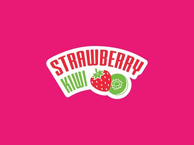Strawberry-Kiwi kiwi strawberry fruity fruit illustration fruit logo fruit icon design vector icons typography branding logo illustration icon