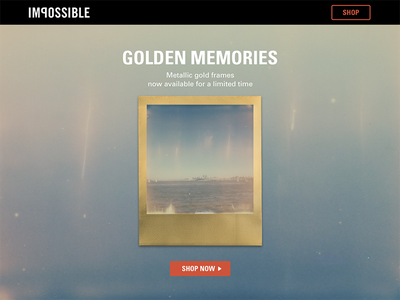 Impossible Project homepage ux design ux landing page photography polaroid web design ui design ui