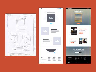 The design process website web homepage web design creative process ux design ux wireframing wireframe daily ui ui ui design