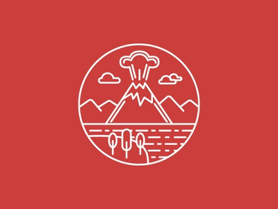 Volcano Icon vector illustration red icons set icons icon volcano