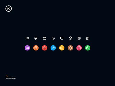 Seya Iconography branding icon ui design