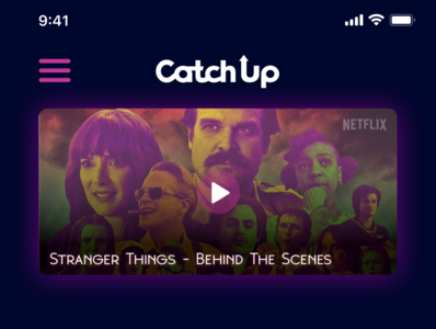 Catch Up - a new TV tracking application
