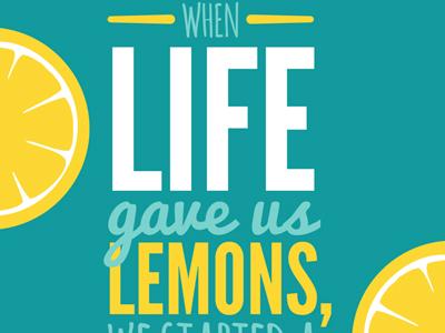 Brightside Lemonade Poster poster typography color company branding logo type font bright brand
