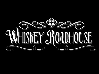 Whiskey Roadhouse typography calligraphy type hand written branding whiskey country western