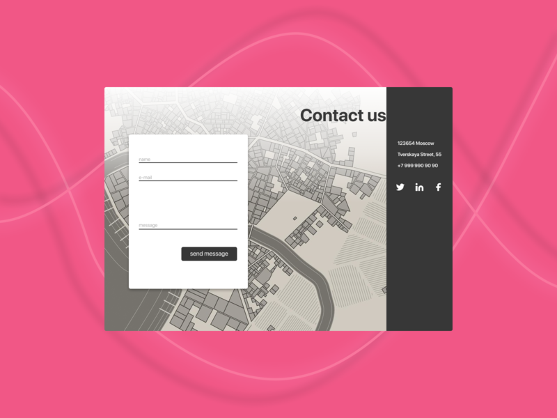 Daily UI 028, Contact Us design dailyui ux ui figma