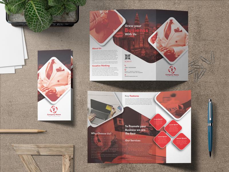 Corporate Trifold Brochure Design corporate brochure design corporate brochure brochure design trifold brochure brochure brochure template illustration branding