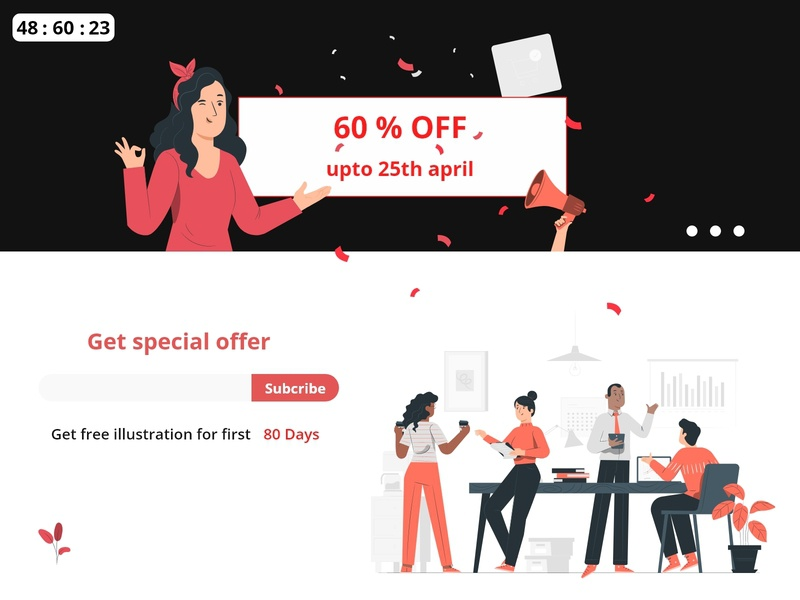Special Offer minimal branding people humans character vector illustrator sketch uiweb web websites webdesign website dailyui 001 dailyui special offer