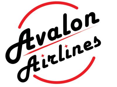 Daily Logo Challenge 12/50: Avalon/Airline logo typography vector ux illustrator illustration branding logo dailylogochallenge design