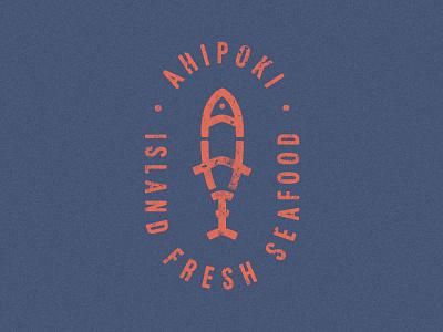 Poke Logo Concept seafood ahi qsr nyc california badge fast casual simmer fish restaurant poke