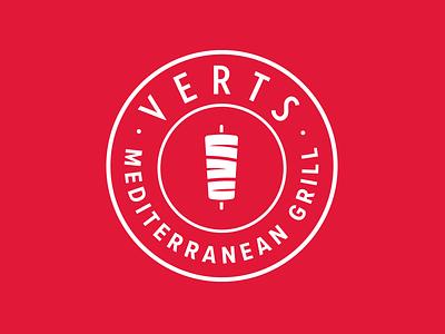 Verts Mediterranean Grill Logo badge restaurant fast casual qsr nyc mediterranean food verts