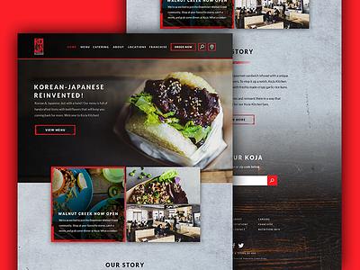 Koja Homepage rice california new york nyc website food restaurant qsr fast casual simmer japanese korean