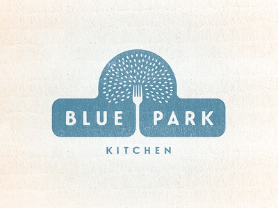 Initial Blue Park Logo fork tree nyc park healthy rice qsr fast casual restaurant food