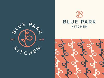 Blue Park Monogram park pattern badge monogram vine fast casual healthy restaurant rice