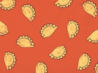 Empanadas! illustration food pattern nyc restaurant fast casual cuban sophies empanadas