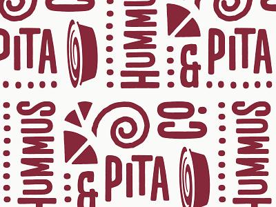 Pita Pattern fast casual restaurant food spiral pattern mediterranean nyc pita hummus