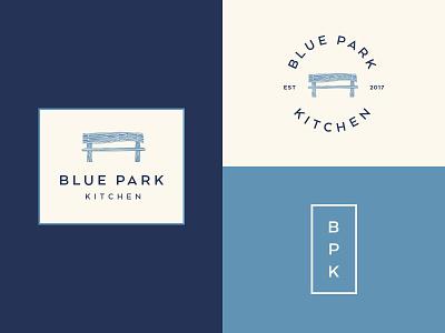 Blue Park Kitchen Logo kitchen nyc fast casual food restaurant rice bench park blue park
