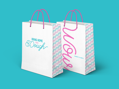Wow! Bags dessert nyc texas doughnuts qsr restaurant takeout bag donuts wow