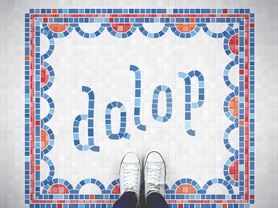 Dalop Fauxsaic nyc stacked food interior pattern tile restaurant indian fauxaic