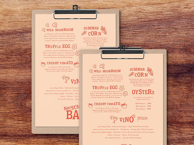 Bru menu