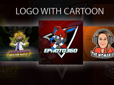 Sample cartoon character mascot design logo