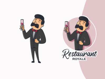 restaurant mascot logo cartoon character