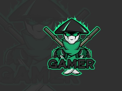 Gaming branding design vector illustration gaming mascot design logo mascot logo cartoon character