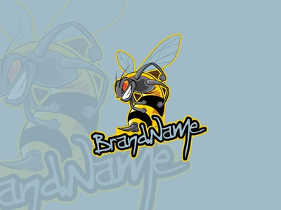 Bee mascot vector illustration logo design mascot design mascot logo cartoon character