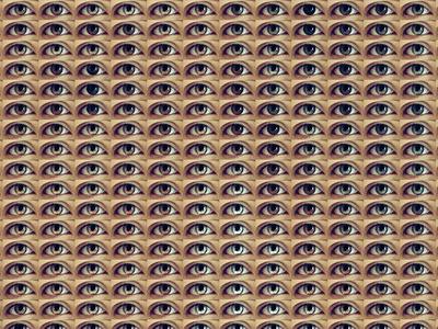 Two Metters Away - Ref. Portrait 01 Close Up rytm pixelart pixel pattern optical illusion optical art pointillism